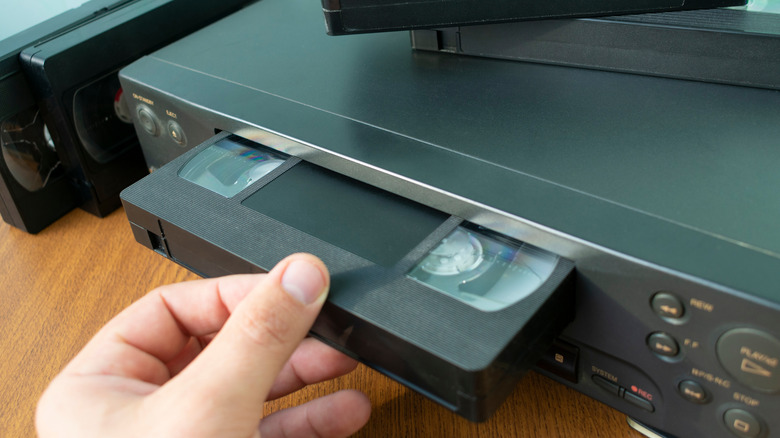 VHS tape and VCR