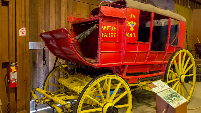 Old West mail stagecoach