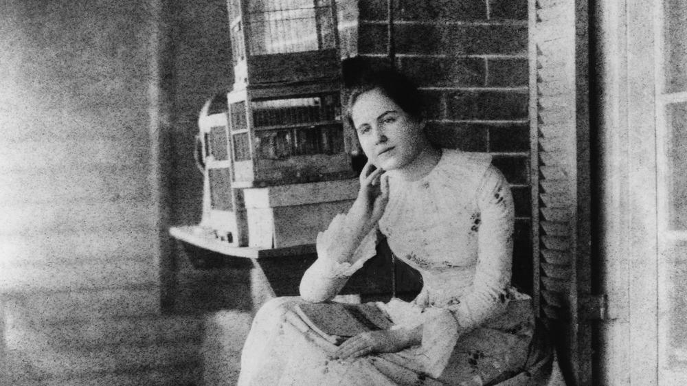 Edith Bolling Galt Wilson, full-length portrait, facing slightly left, at age 15, 1887