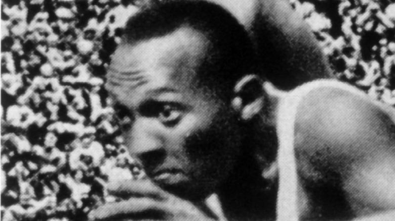 Jesse Owens running, 1936 Olympics