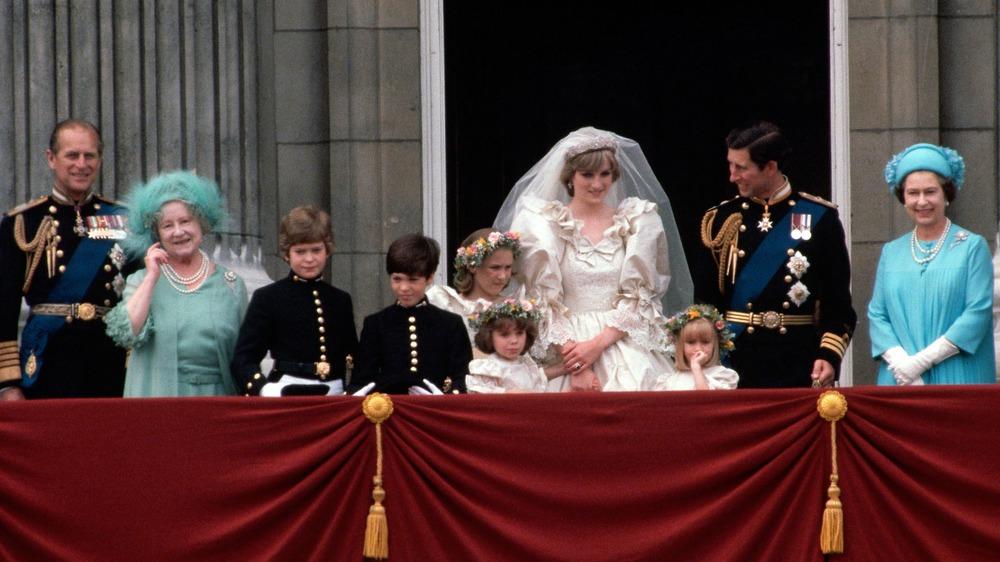 Prince Charles and Princess Diana's wedding family photo