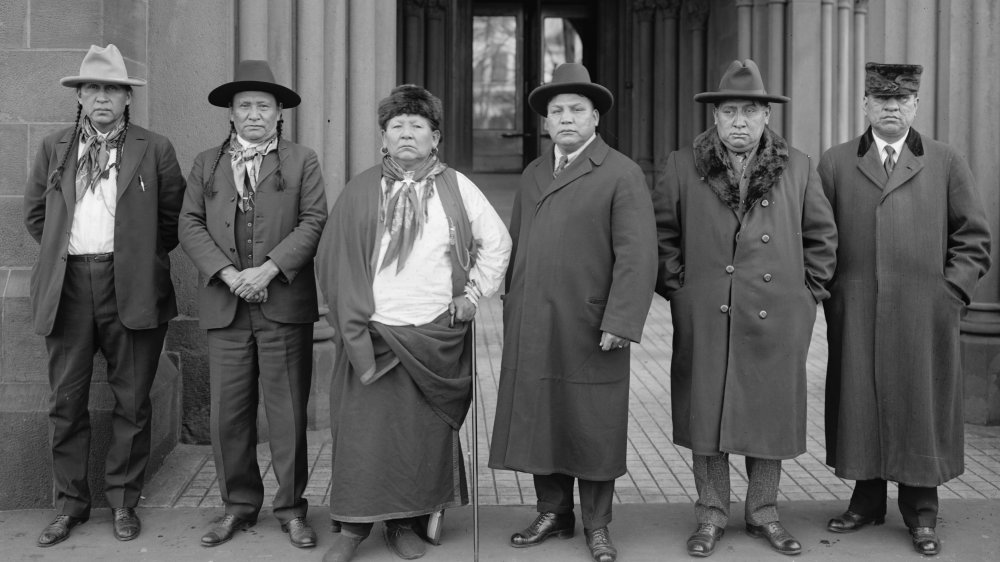 Group of Osage people, 1920