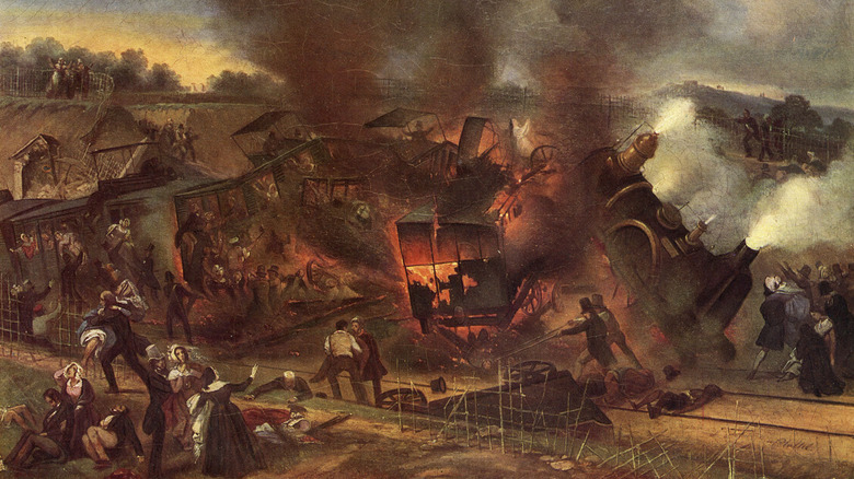 Train wreck, 1842