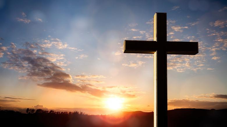 Cross at sunset