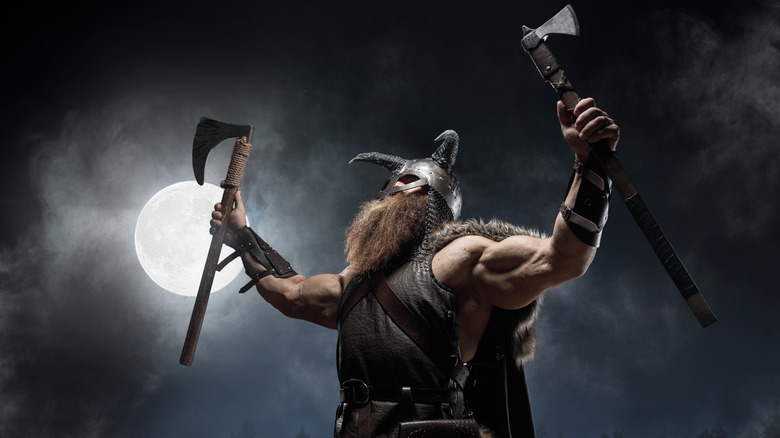 artistic depiction of a viking