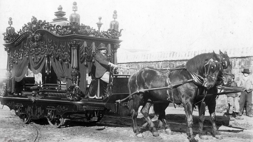 Vintage hearse from 1900