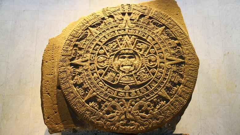 Aztec Sun Stone in museum