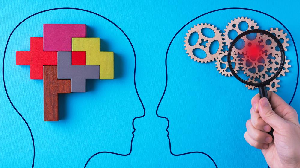 Artistic representation of human brain