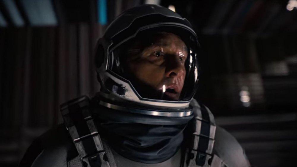Matthew McConaughey as Cooper glimpsing the plot of Interstellar while in the Gargantuan