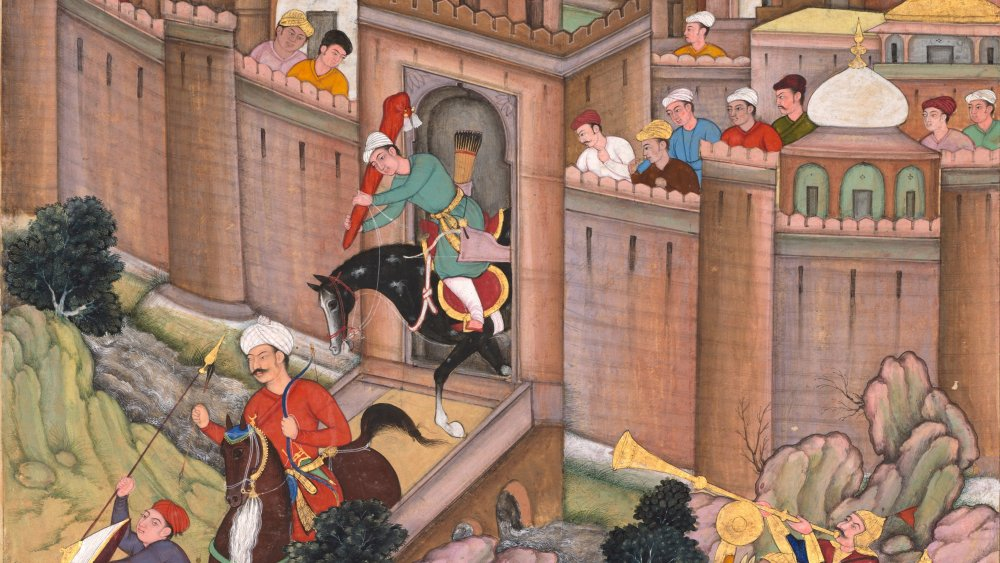 An illustration of Baghdad's fall in 1258