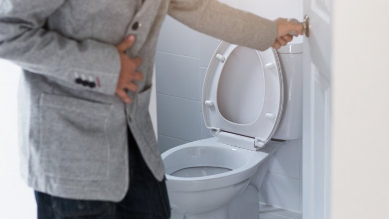 man, toilet, bathroom