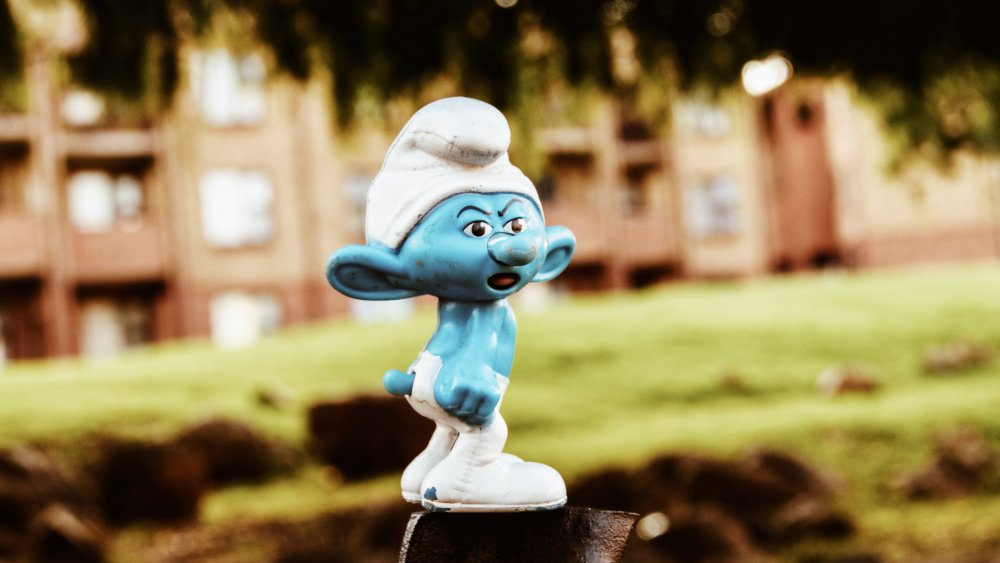Rare picture of a Smurf in its natural habitat