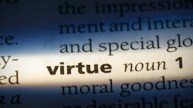 """The dictionary entry for """"virtue"""""""