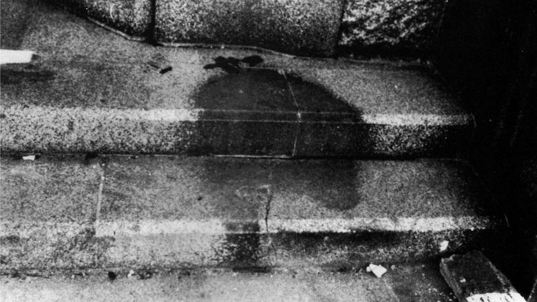 man's shadow in Hiroshima