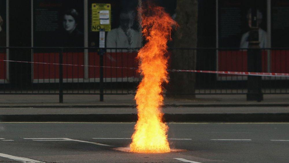 Manhole fire