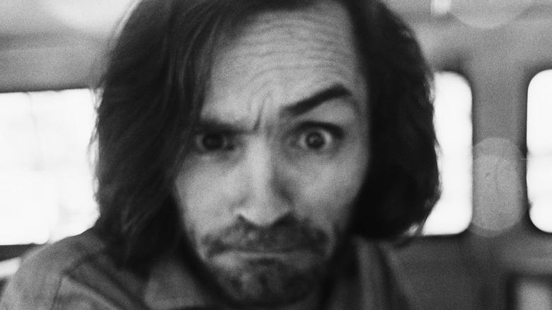 Charles Manson raised eyebrow