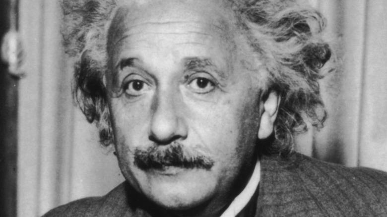 Black and white picture of Albert Einstein