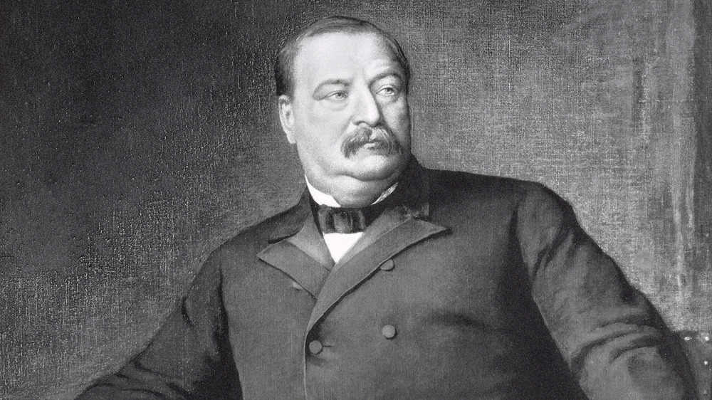 Grover Cleveland sits