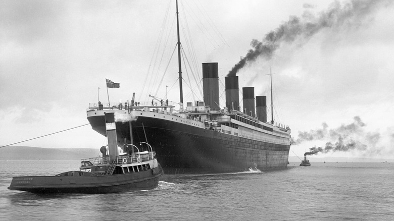 Titanic in black and white
