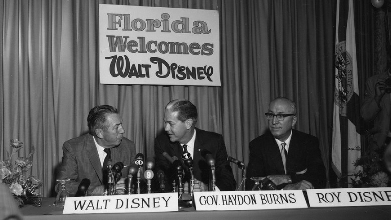 Walt Disney press conference about the building of Disney World