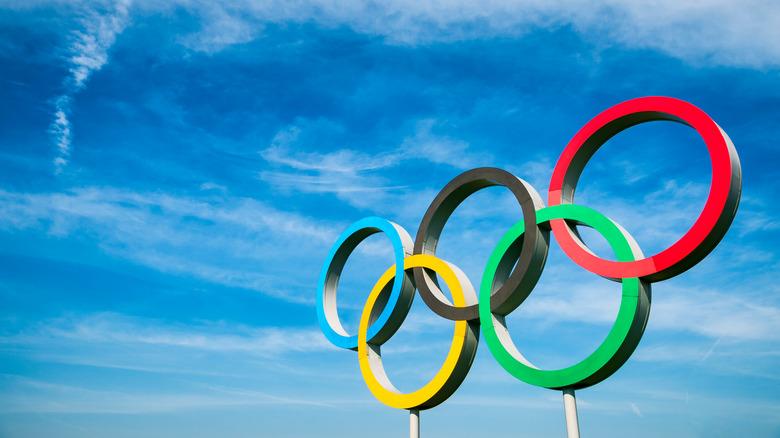 Olympic Rings against blue sky