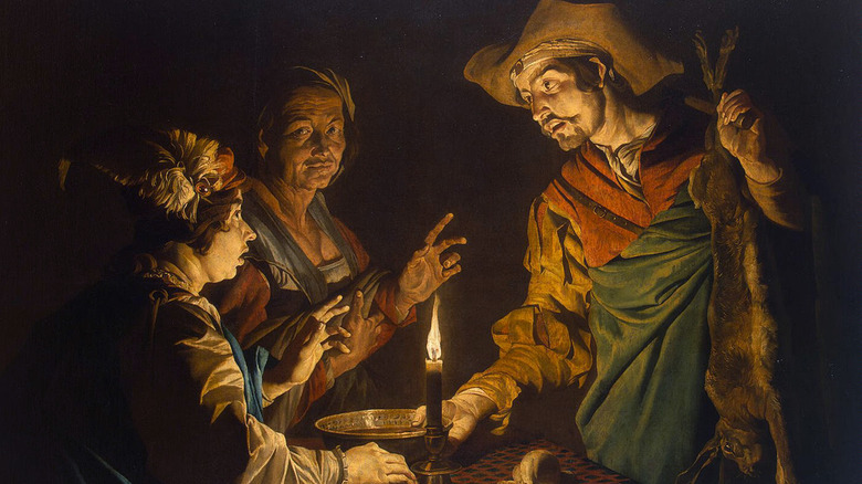 Painting of Esau giving his birthright