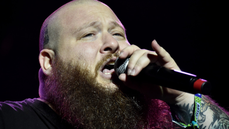 Rapper and chef Action Bronson with mic