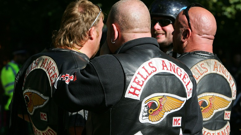 Hells Angels gather at funeral
