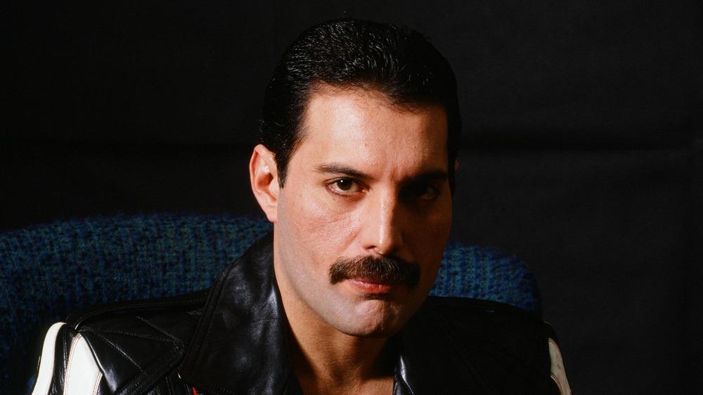 Freddie Mercury looking serious