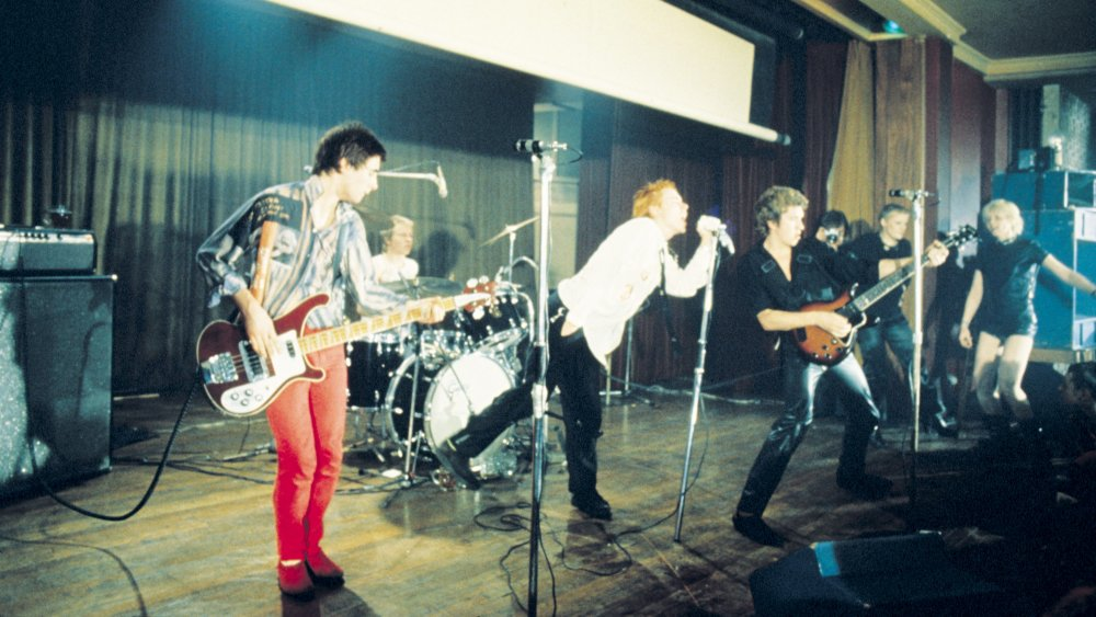 Glen Matlock playing bass for the Sex Pistols