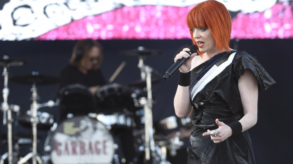 Manson and Garbage performing