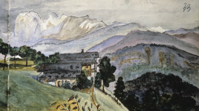 landscape from Adolf Hitler's Sketchbook