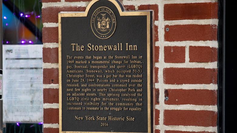 Stonewall Inn commemorative plaque
