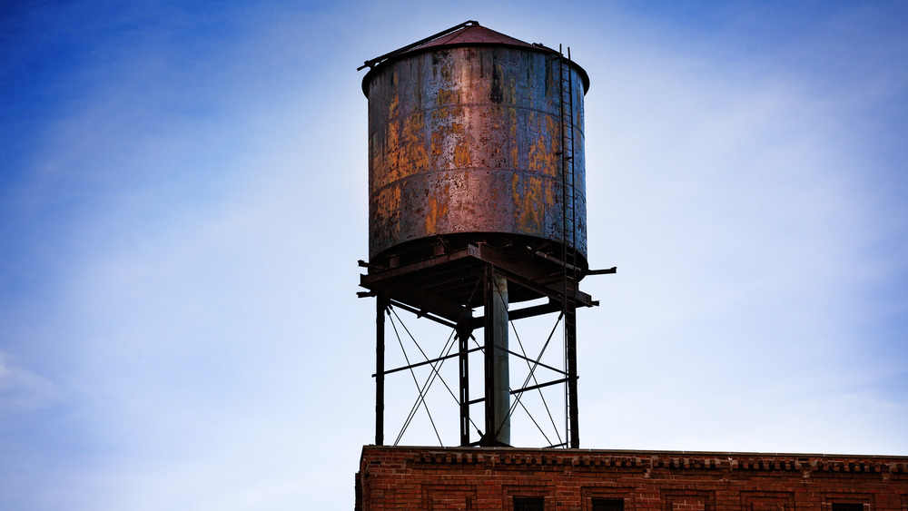 water tank on building