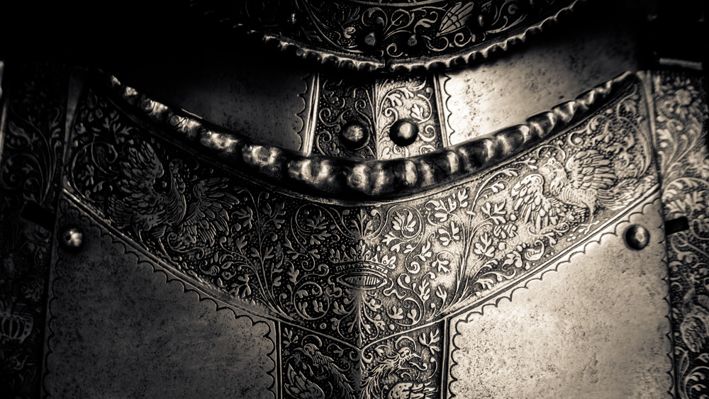 Detailed work of medieval armor