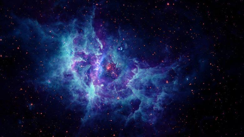 bright galaxy stars gas cloud