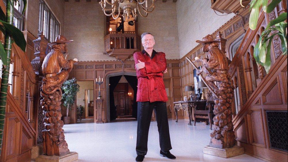 Hugh Hefner at the Playboy Mansion