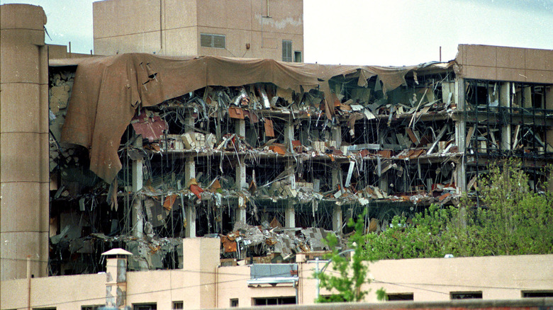 Bombed out Alfred P Murrah Federal Building in Oklahoma