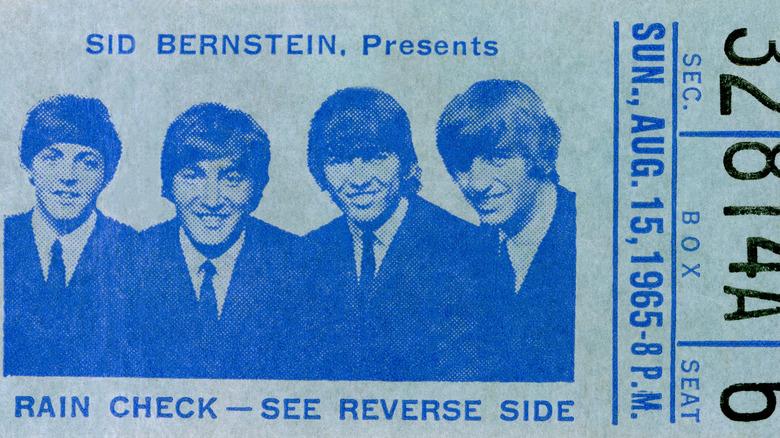 Ticket for Beatles' Shea Stadium show
