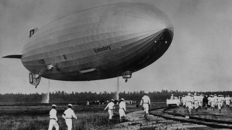 Hindenburg on ground