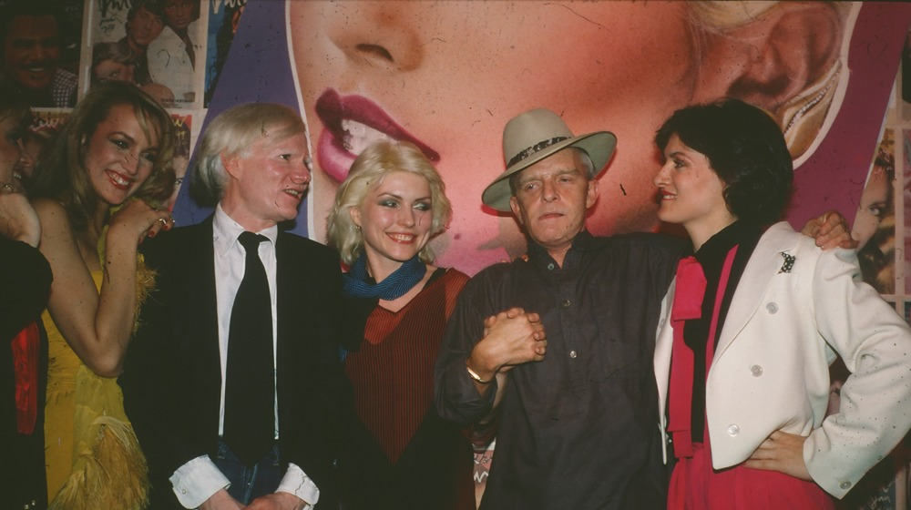Andy Warhol, Debbie Harry and Truman Capote at club
