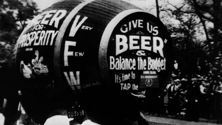 Prohibition barrel protests