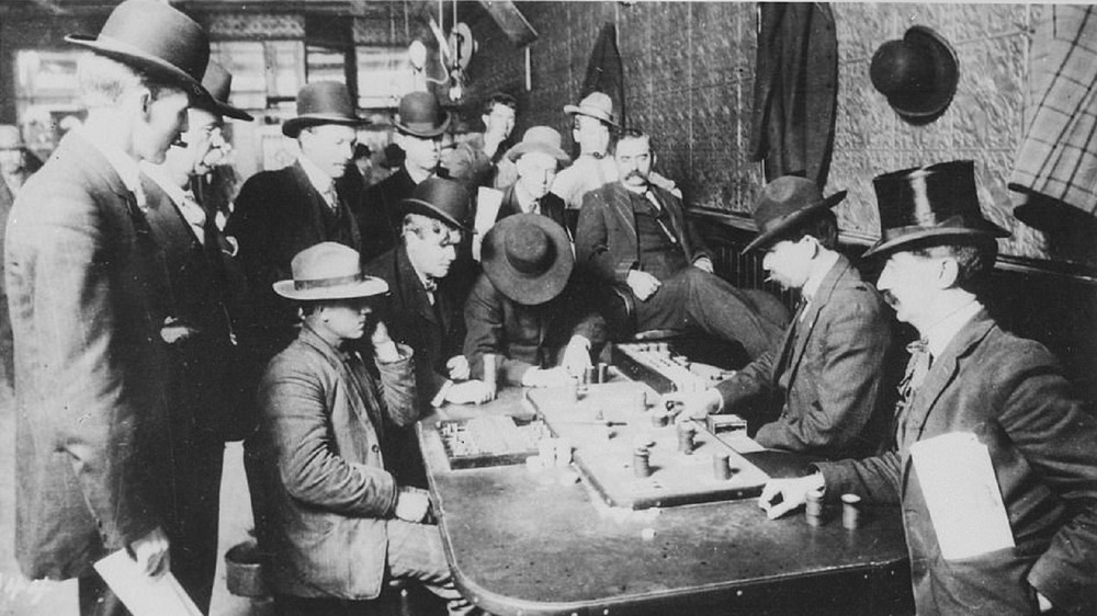 Gamblers around table
