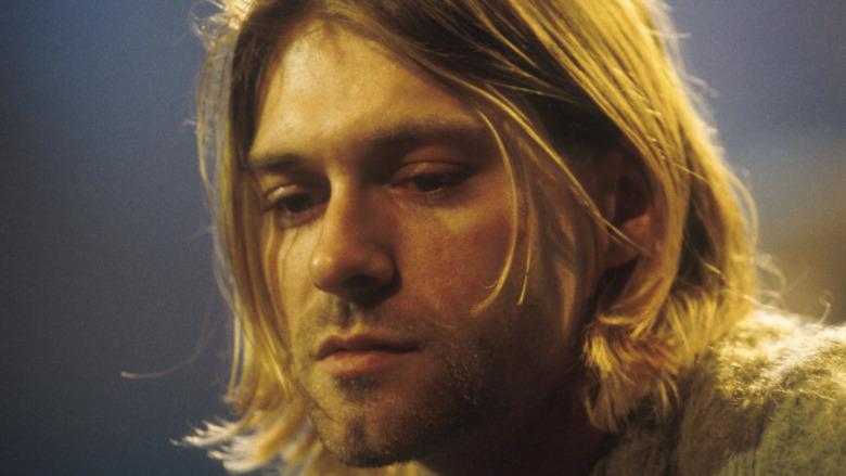 close-up of Kurt Cobain