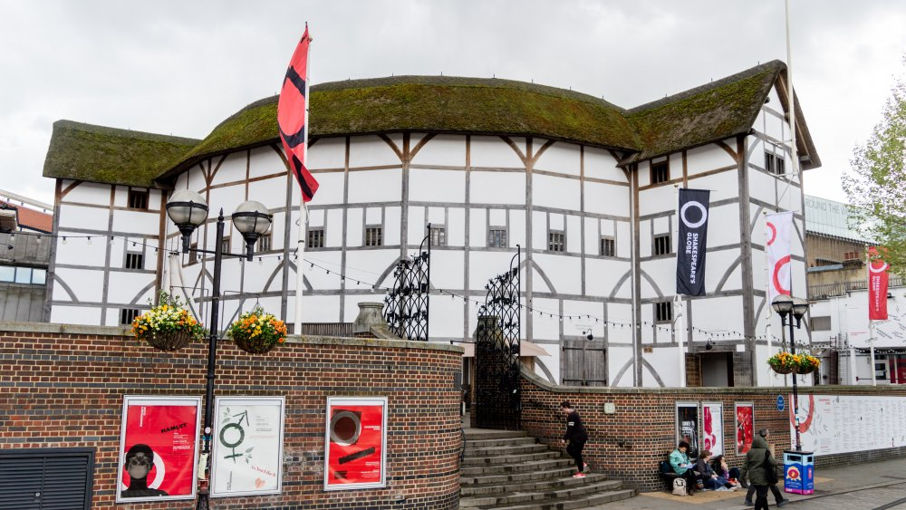 Shakespeare's Globe in London, seen from Bankside