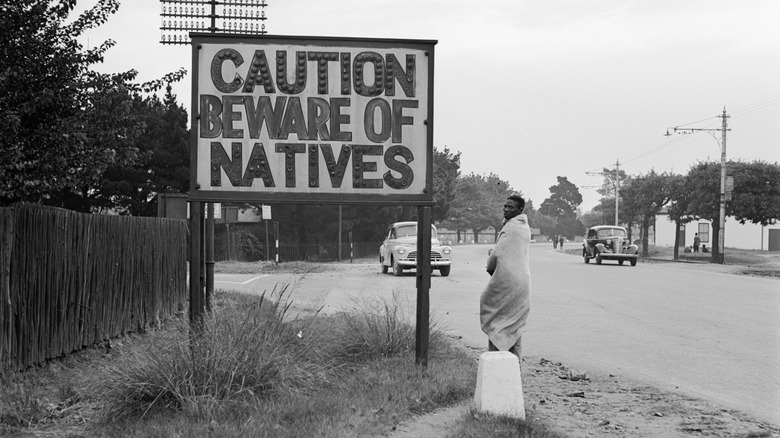 Beware of Natives sign in South Africa