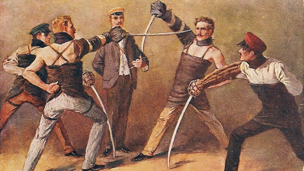 German sabre duel