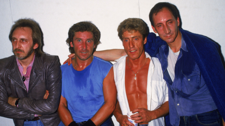 Group photo of The Who: Kenney Jones, Roger Daltrey, Pete Townshend and John Enwistle