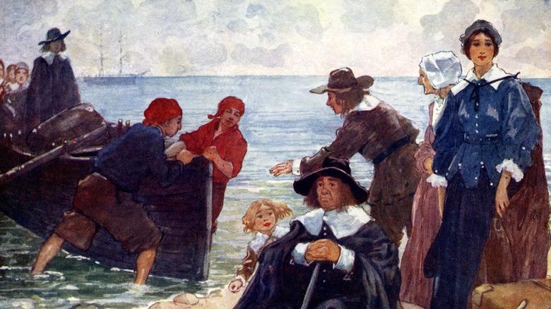 Pilgrims landing in the Americas
