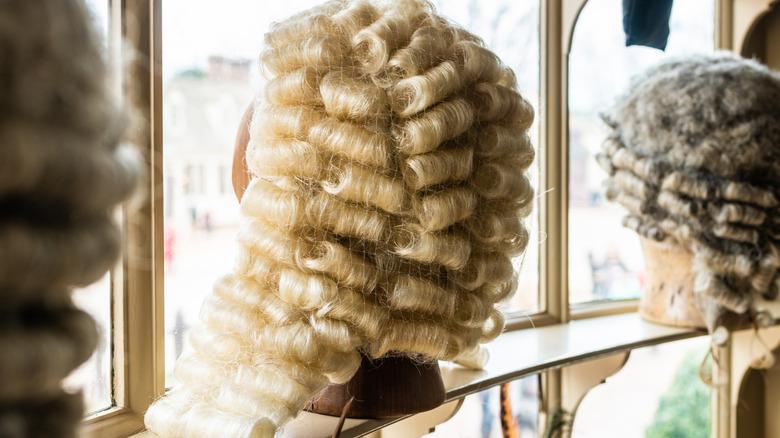 Colonial era men's wigs
